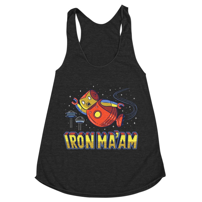 Iron Ma'am Women's Racerback Triblend Tank by Ibyes