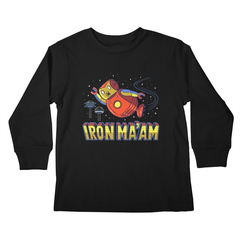 Iron Ma'am Kids Longsleeve T-Shirt by Ibyes