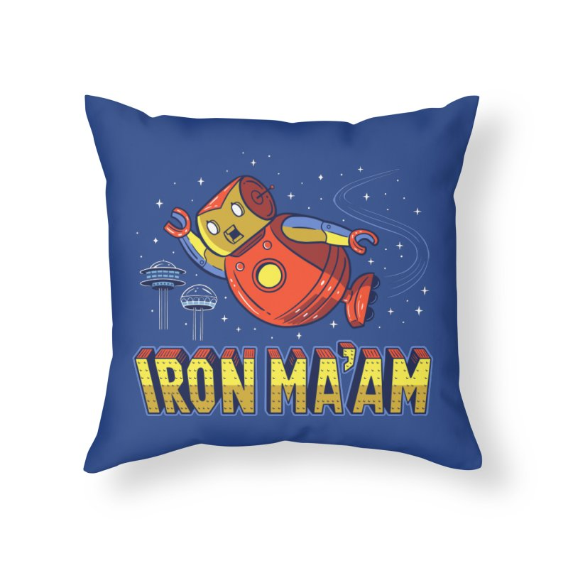 Iron Ma'am Home Throw Pillow by Ibyes