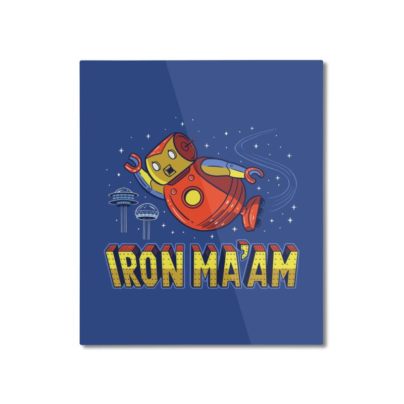Iron Ma'am Home Mounted Aluminum Print by Ibyes