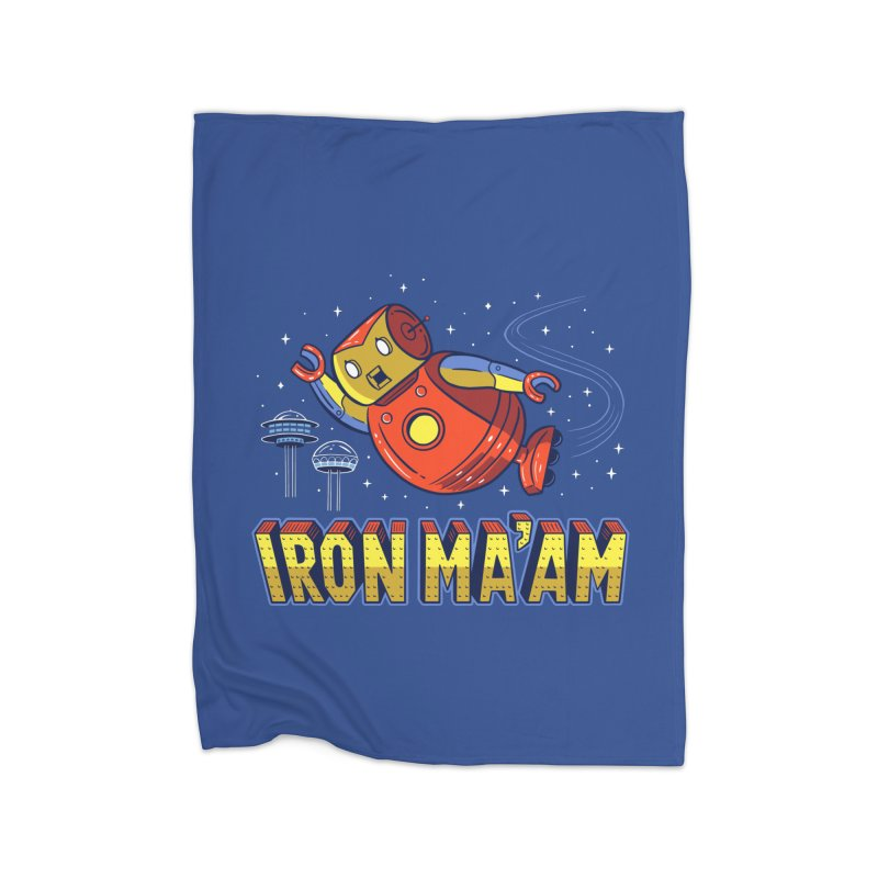 Iron Ma'am Home Fleece Blanket Blanket by Ibyes