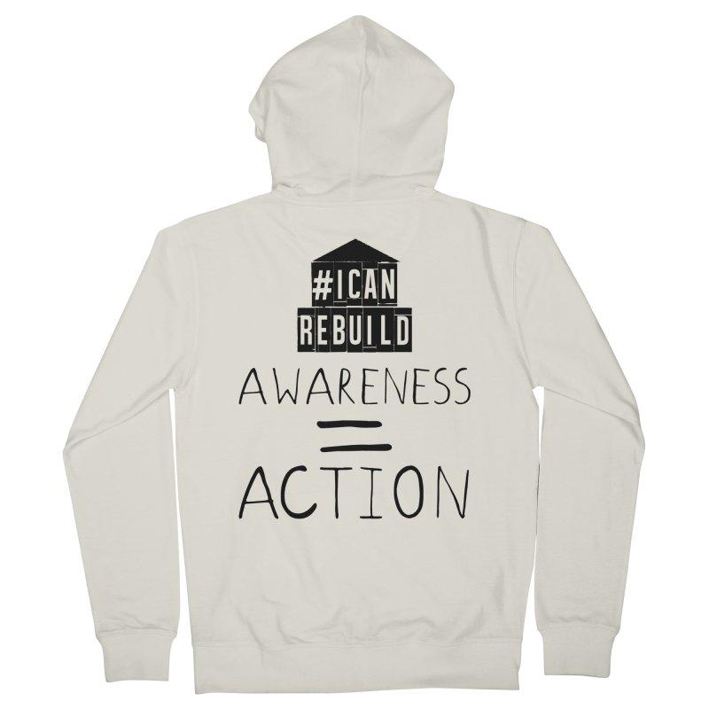 Action Men's Zip-Up Hoody by #icanrebuild Merchandise