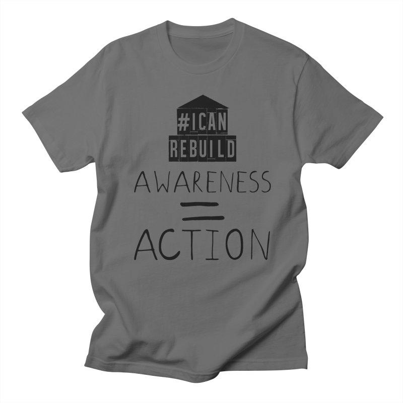Action in Men's T-shirt Asphalt by #icanrebuild Merchandise