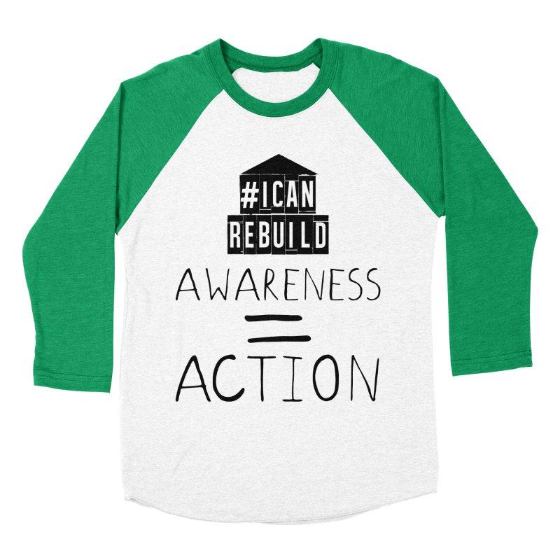 Action Men's Baseball Triblend T-Shirt by #icanrebuild Merchandise
