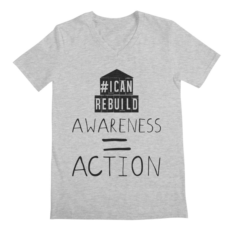 Action Men's V-Neck by #icanrebuild Merchandise