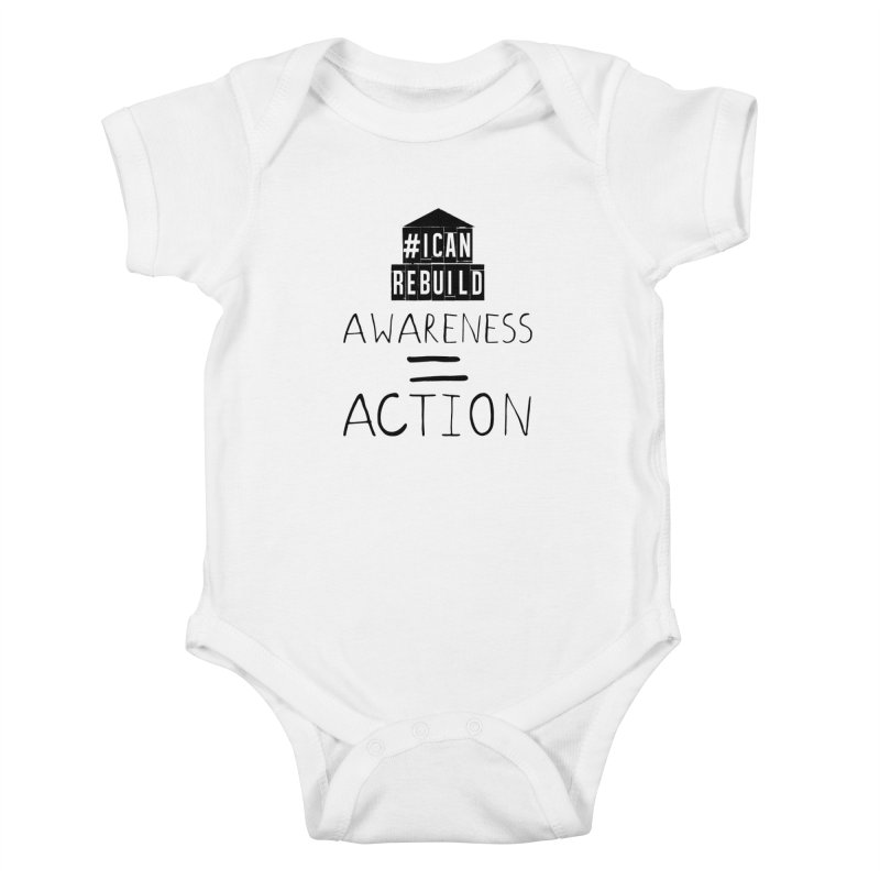 Action Kids Baby Bodysuit by #icanrebuild Merchandise