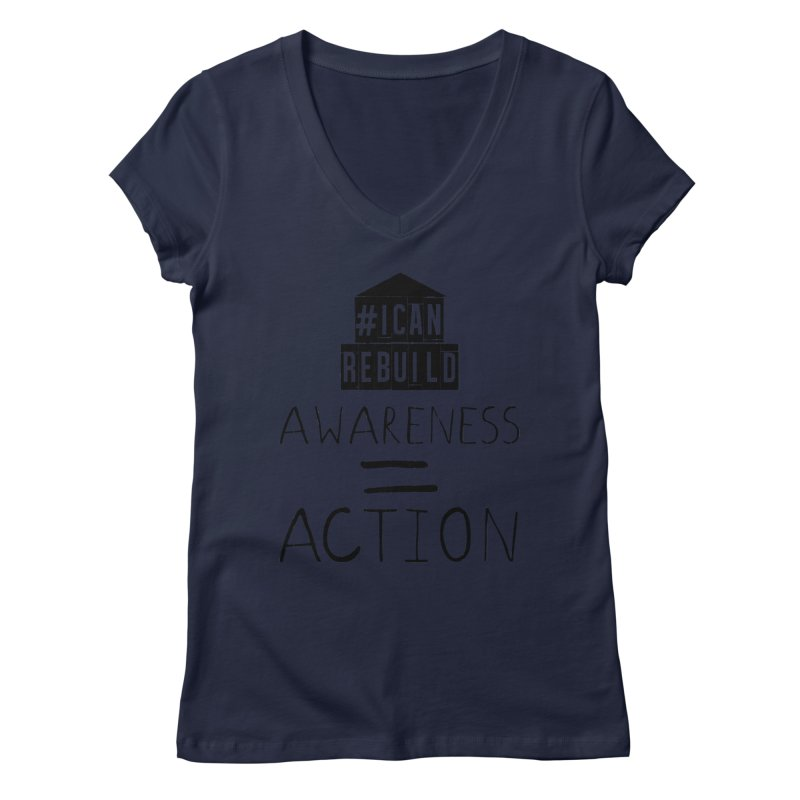 Action Women's V-Neck by #icanrebuild Merchandise
