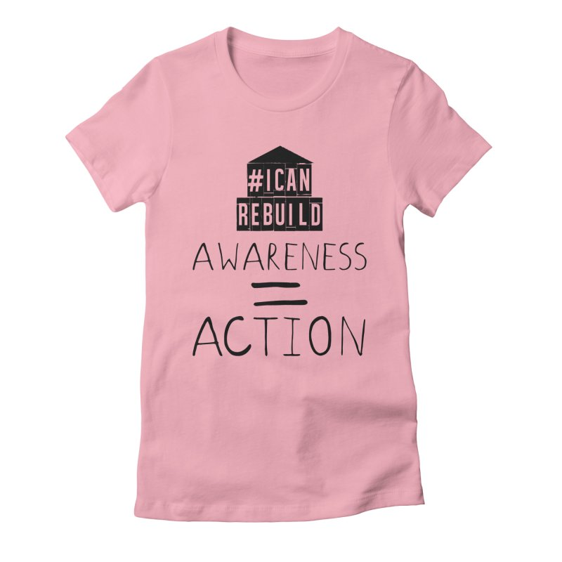 Action Women's Fitted T-Shirt by #icanrebuild Merchandise