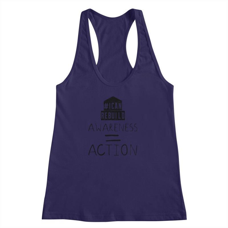 Action Women's Racerback Tank by #icanrebuild Merchandise