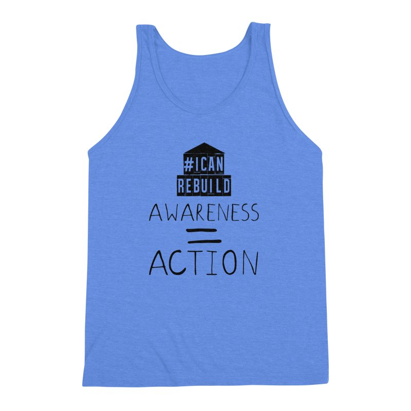 Action Men's Triblend Tank by #icanrebuild Merchandise