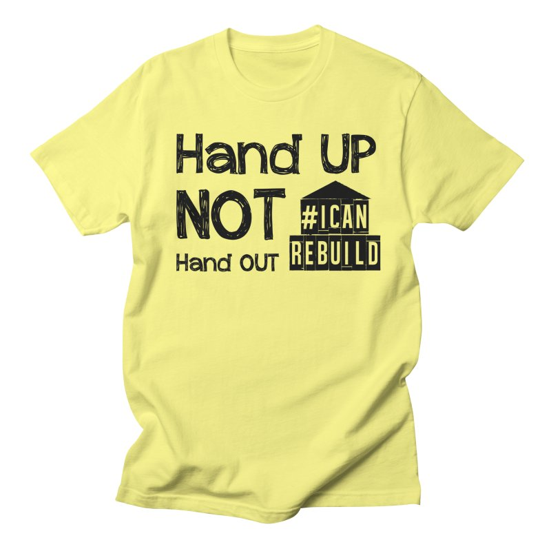 Hand Up Men's T-shirt by #icanrebuild Merchandise