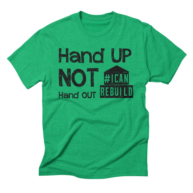 Hand Up Men's Triblend T-shirt by #icanrebuild Merchandise