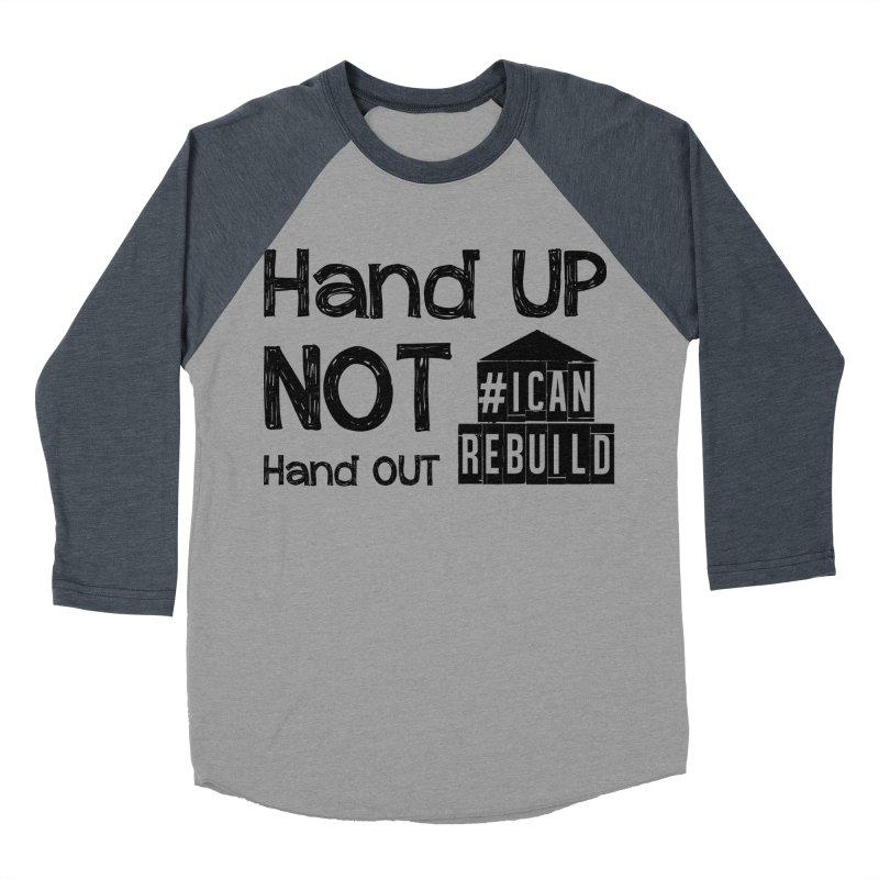 Hand Up Women's Baseball Triblend T-Shirt by #icanrebuild Merchandise