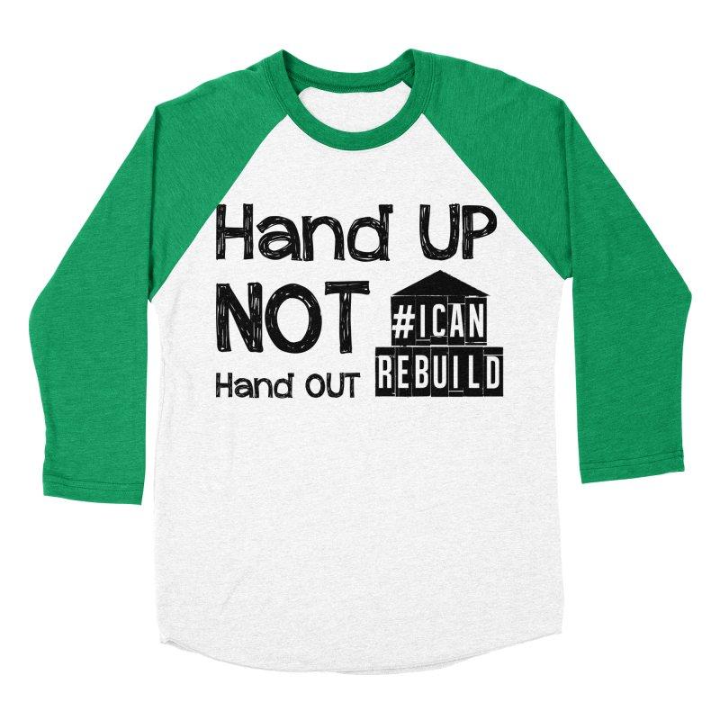 Hand Up Men's Baseball Triblend T-Shirt by #icanrebuild Merchandise