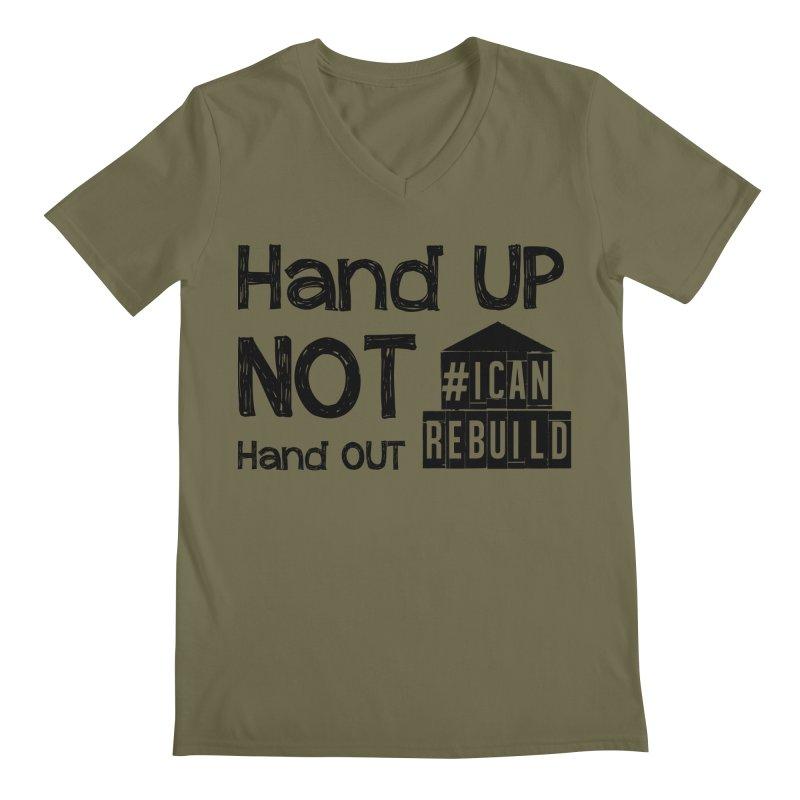 Hand Up Men's V-Neck by #icanrebuild Merchandise