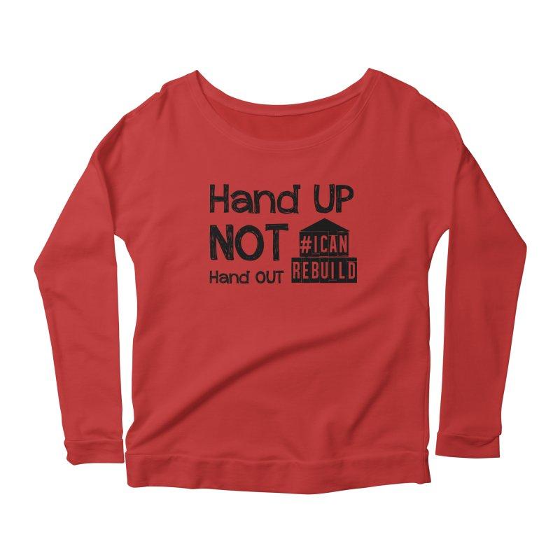 Hand Up Women's Longsleeve Scoopneck  by #icanrebuild Merchandise