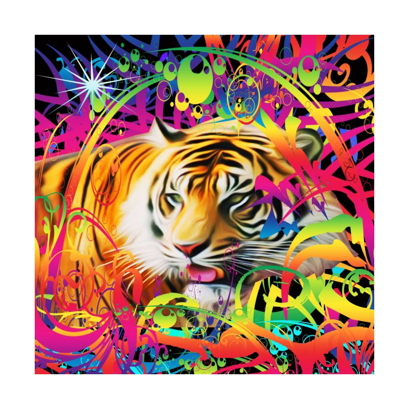 Tiger in the Jungle Men's V-Neck by Matthew Lacey-icarusismartdesigns