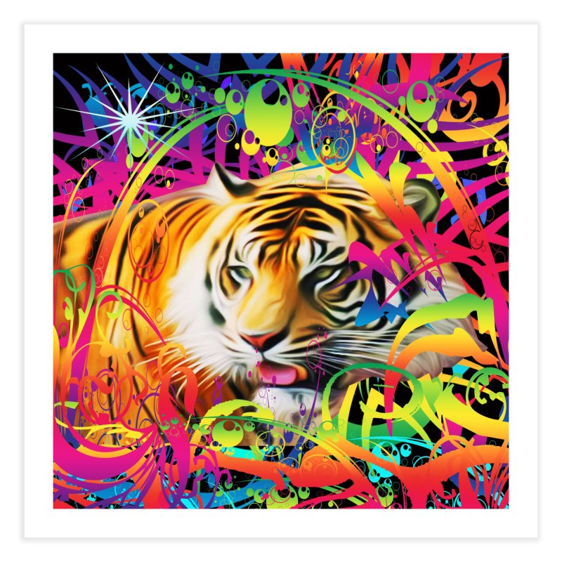 Tiger in the Jungle Home Fine Art Print by Matthew Lacey-icarusismartdesigns
