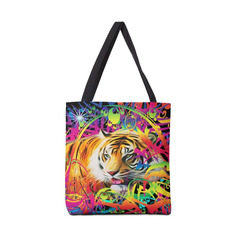 Tiger in the Jungle Accessories Tote Bag Bag by Matthew Lacey-icarusismartdesigns