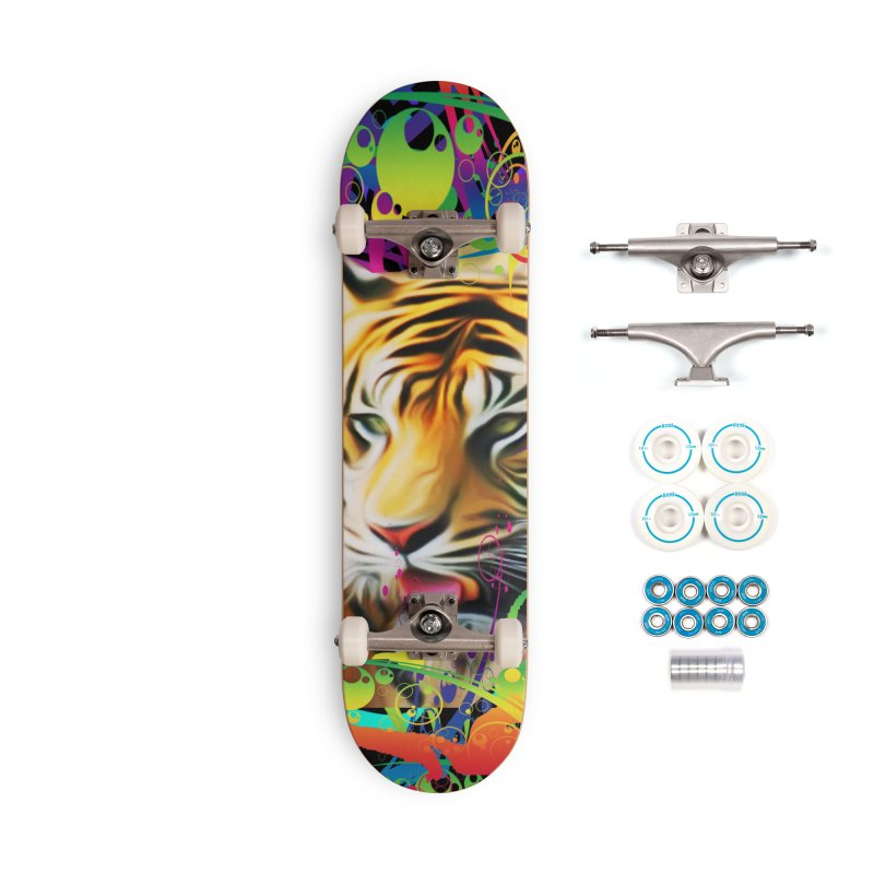 Tiger in the Jungle Accessories Complete - Basic Skateboard by Matthew Lacey-icarusismartdesigns