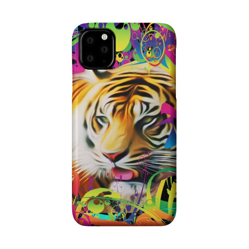 Tiger in the Jungle Accessories Phone Case by Matthew Lacey-icarusismartdesigns