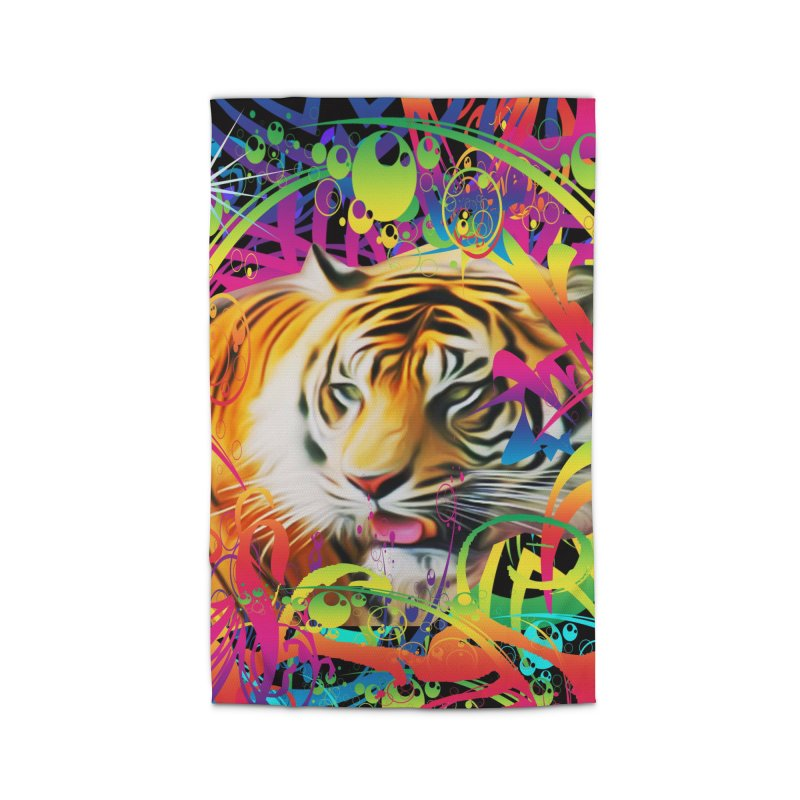 Tiger in the Jungle Home Rug by Matthew Lacey-icarusismartdesigns