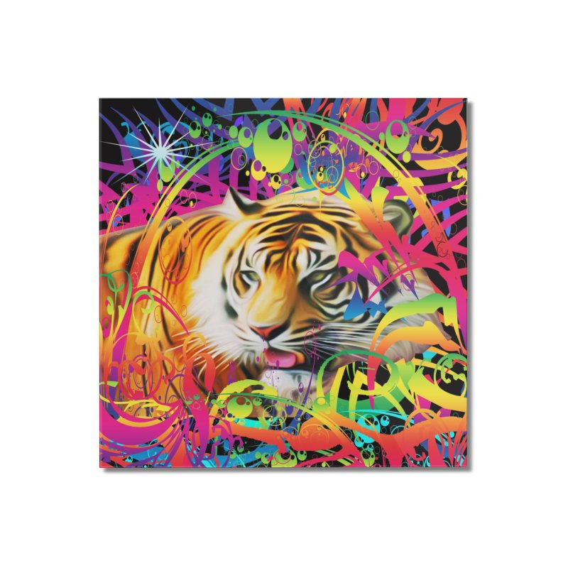 Tiger in the Jungle Home Mounted Acrylic Print by Matthew Lacey-icarusismartdesigns
