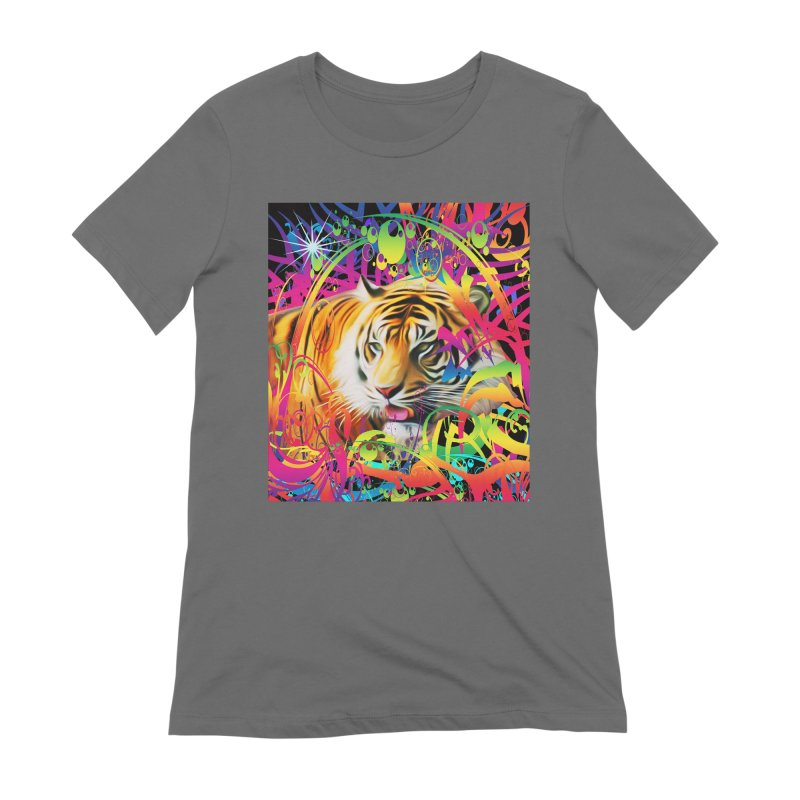 Tiger in the Jungle Women's T-Shirt by Matthew Lacey-icarusismartdesigns