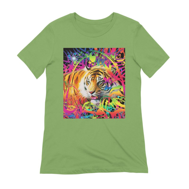 Tiger in the Jungle Women's Extra Soft T-Shirt by Matthew Lacey-icarusismartdesigns