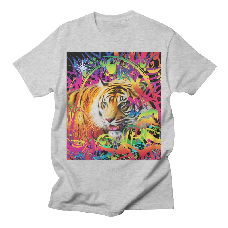 Tiger in the Jungle Men's T-Shirt by Matthew Lacey-icarusismartdesigns