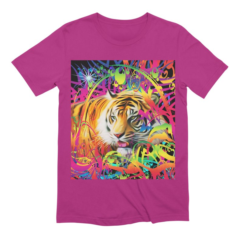 Tiger in the Jungle Men's Extra Soft T-Shirt by Matthew Lacey-icarusismartdesigns