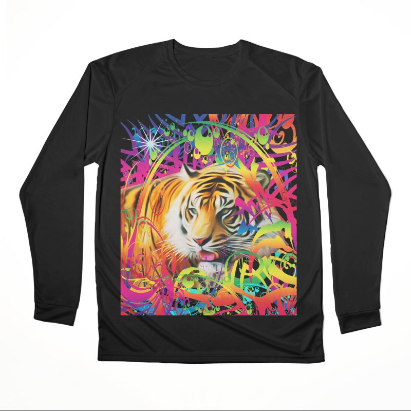 Tiger in the Jungle Men's Performance Longsleeve T-Shirt by Matthew Lacey-icarusismartdesigns