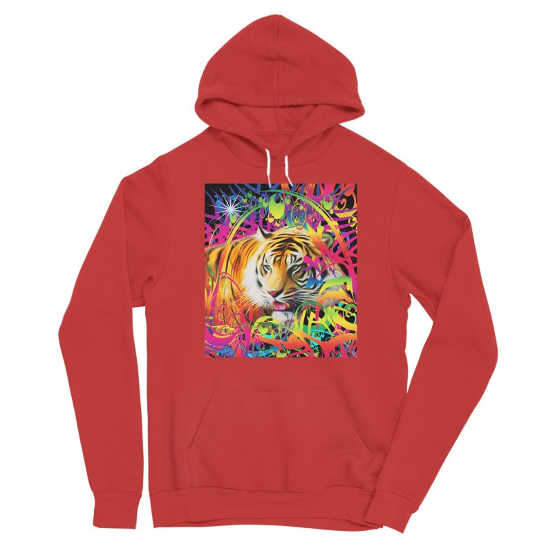 Tiger in the Jungle Women's Pullover Hoody by Matthew Lacey-icarusismartdesigns
