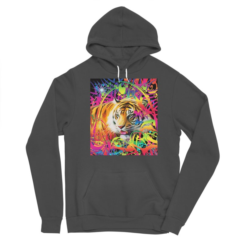 Tiger in the Jungle Men's Pullover Hoody by Matthew Lacey-icarusismartdesigns