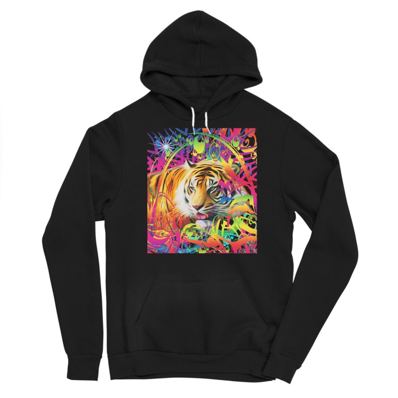 Tiger in the Jungle Men's Sponge Fleece Pullover Hoody by Matthew Lacey-icarusismartdesigns