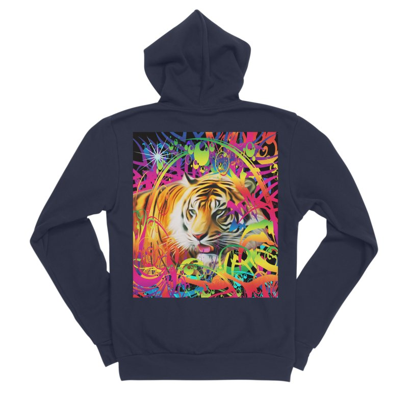 Tiger in the Jungle Women's Zip-Up Hoody by Matthew Lacey-icarusismartdesigns
