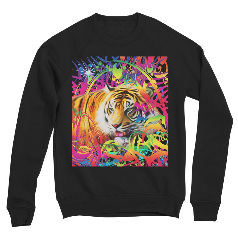 Tiger in the Jungle Women's Sponge Fleece Sweatshirt by Matthew Lacey-icarusismartdesigns