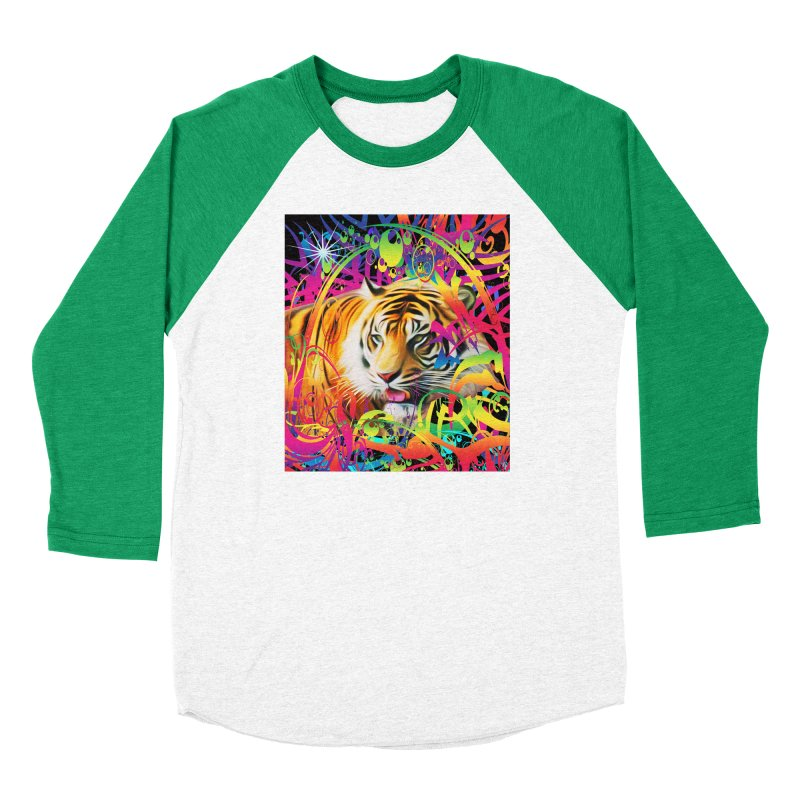 Tiger in the Jungle Women's Longsleeve T-Shirt by Matthew Lacey-icarusismartdesigns