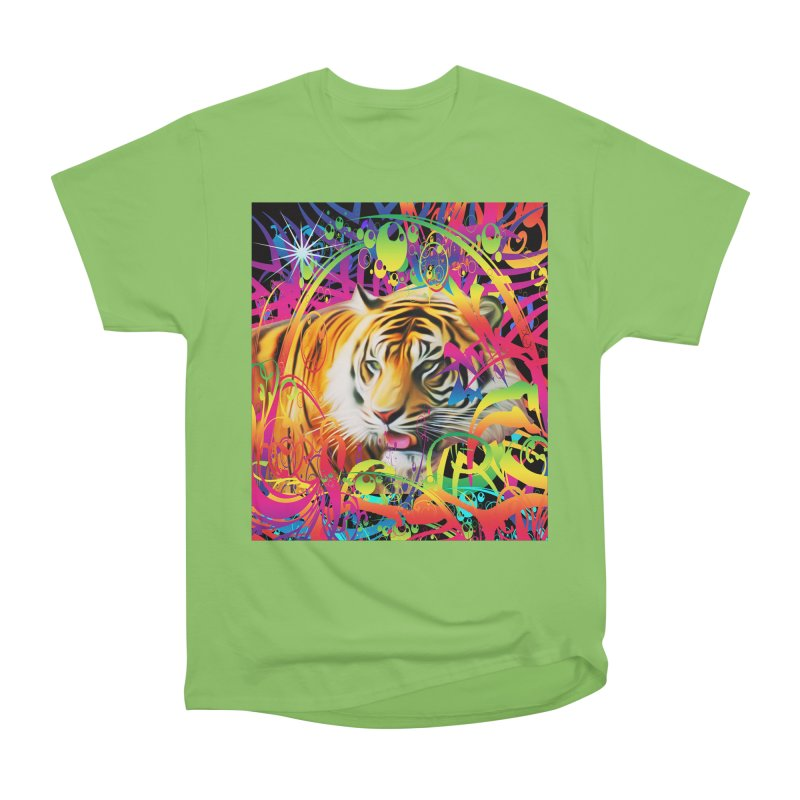 Tiger in the Jungle Women's Heavyweight Unisex T-Shirt by Matthew Lacey-icarusismartdesigns