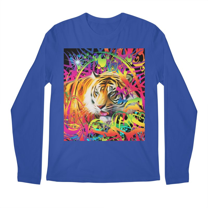 Tiger in the Jungle Men's Longsleeve T-Shirt by Matthew Lacey-icarusismartdesigns