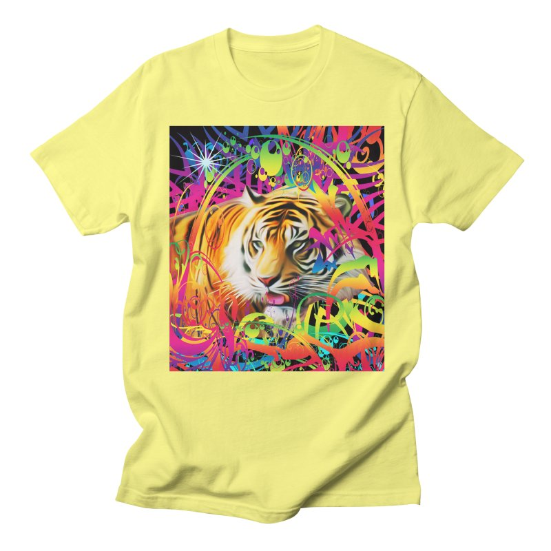 Tiger in the Jungle Women's Regular Unisex T-Shirt by Matthew Lacey-icarusismartdesigns