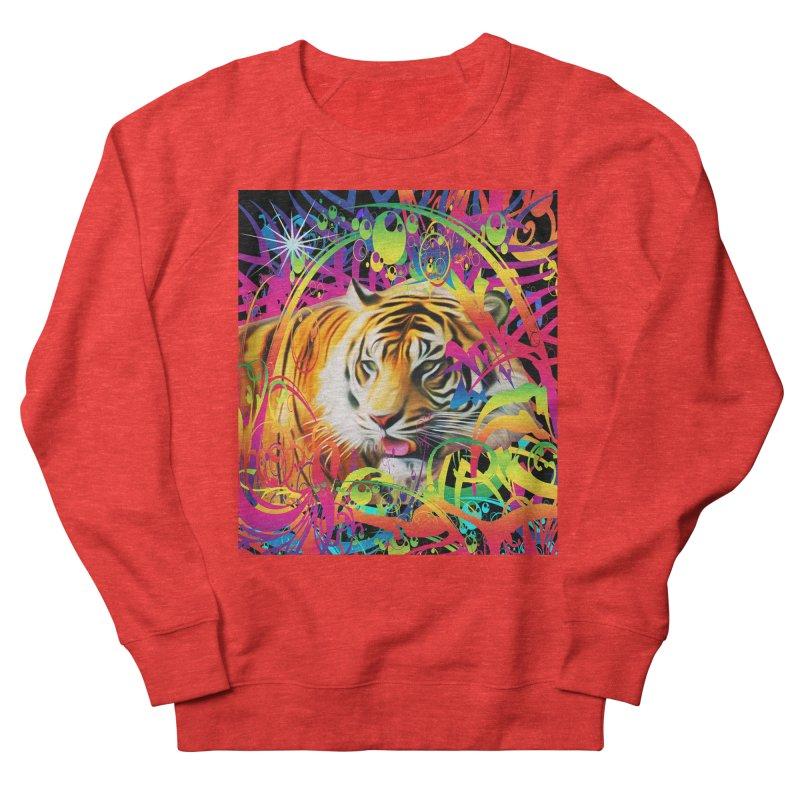 Tiger in the Jungle Women's Sweatshirt by Matthew Lacey-icarusismartdesigns