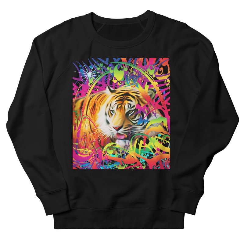 Tiger in the Jungle Women's Sweatshirt by Matthew Lacey-icarusismartdesigns