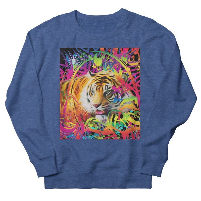 Tiger in the Jungle Men's Sweatshirt by Matthew Lacey-icarusismartdesigns