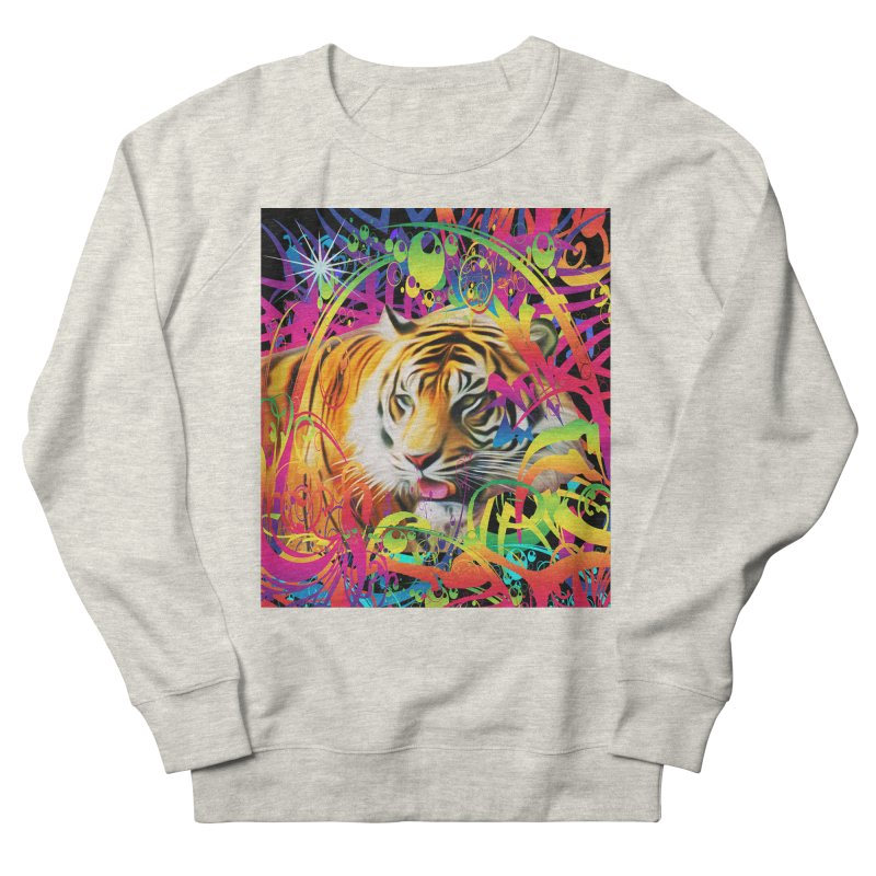 Tiger in the Jungle Men's Sweatshirt by Matthew Lacey-icarusismartdesigns
