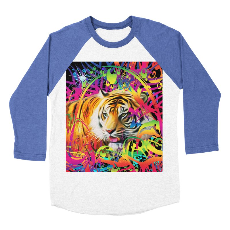Tiger in the Jungle Men's Baseball Triblend Longsleeve T-Shirt by Matthew Lacey-icarusismartdesigns