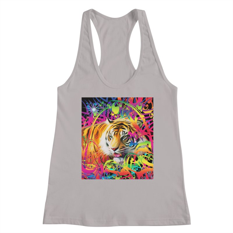 Tiger in the Jungle Women's Tank by Matthew Lacey-icarusismartdesigns
