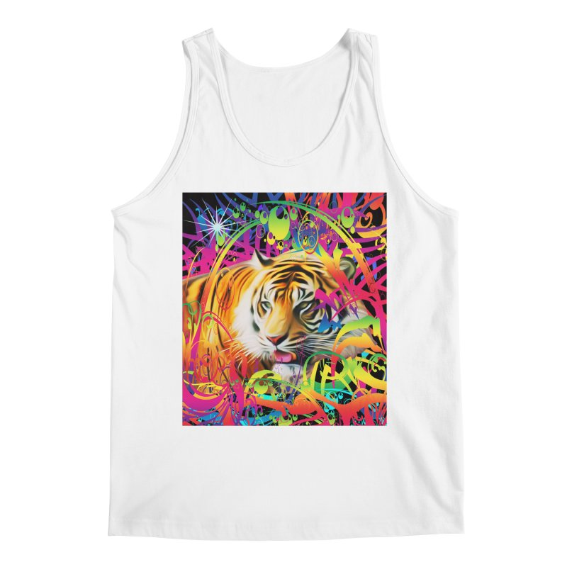 Tiger in the Jungle Men's Regular Tank by Matthew Lacey-icarusismartdesigns