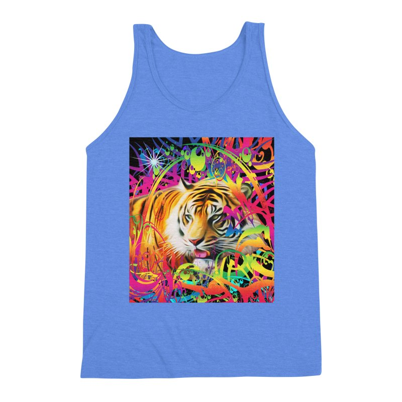 Tiger in the Jungle Men's Tank by Matthew Lacey-icarusismartdesigns