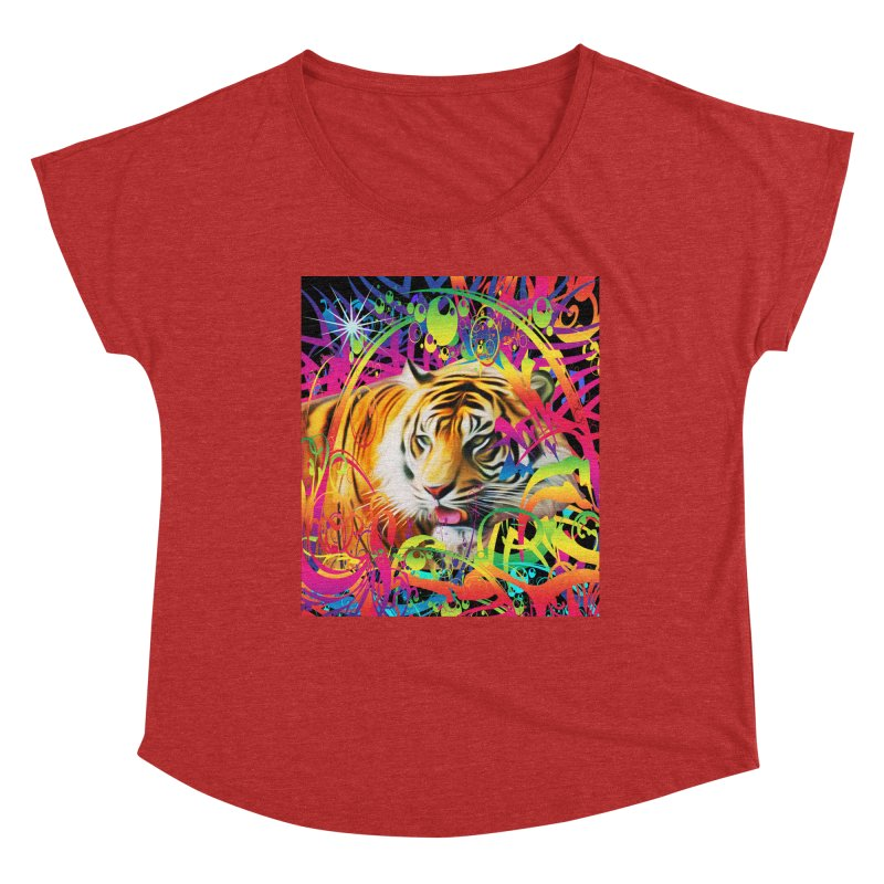 Tiger in the Jungle Women's Scoop Neck by Matthew Lacey-icarusismartdesigns